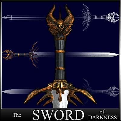 3d sword darkness - schwert model