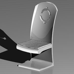 3ds max modern chair dinning