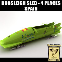 Bobsleigh Sled - 4 Places - Spain