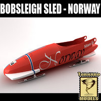 3d bobsleigh sled - norway