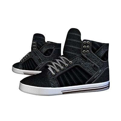 shoes supra 3d model