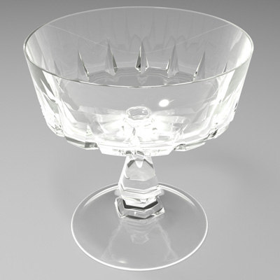 free crystal glass cup 3d model