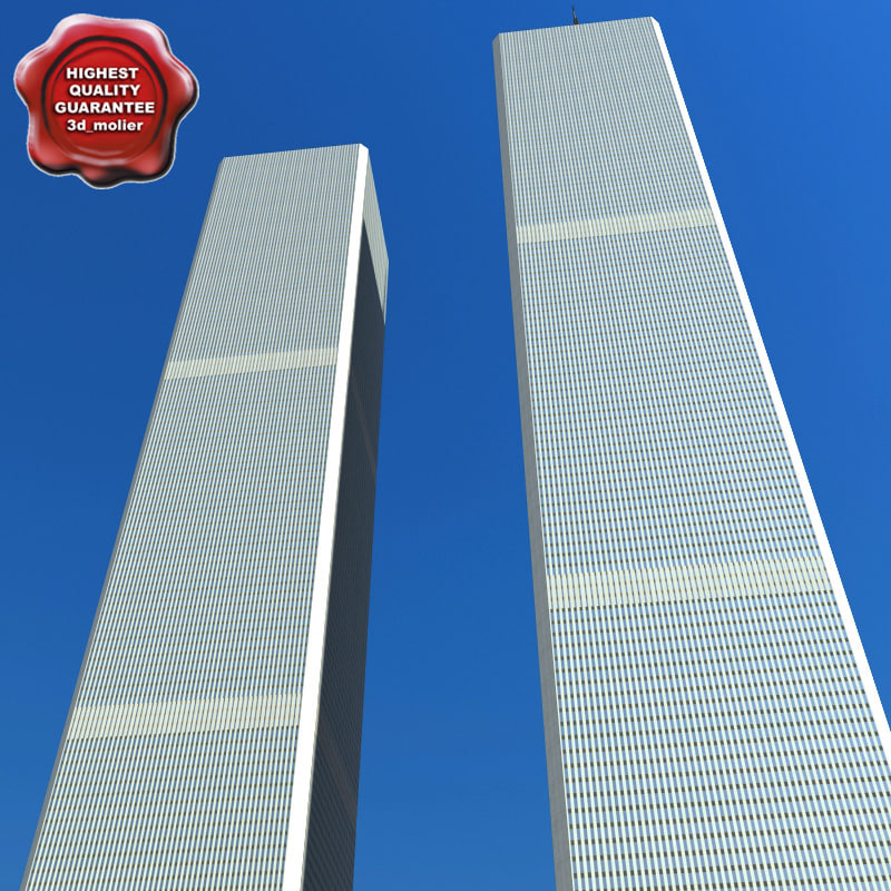 3d max twin towers