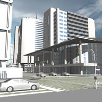 3d urban block 11 model