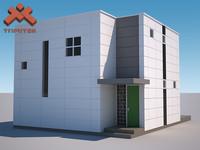 3d modern prefab house -