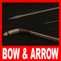 bow arrow fbx