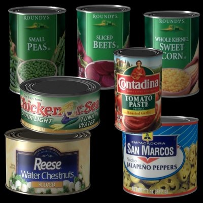 3d model of canned food