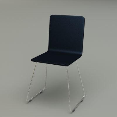 3d chrome soft ikea chair model
