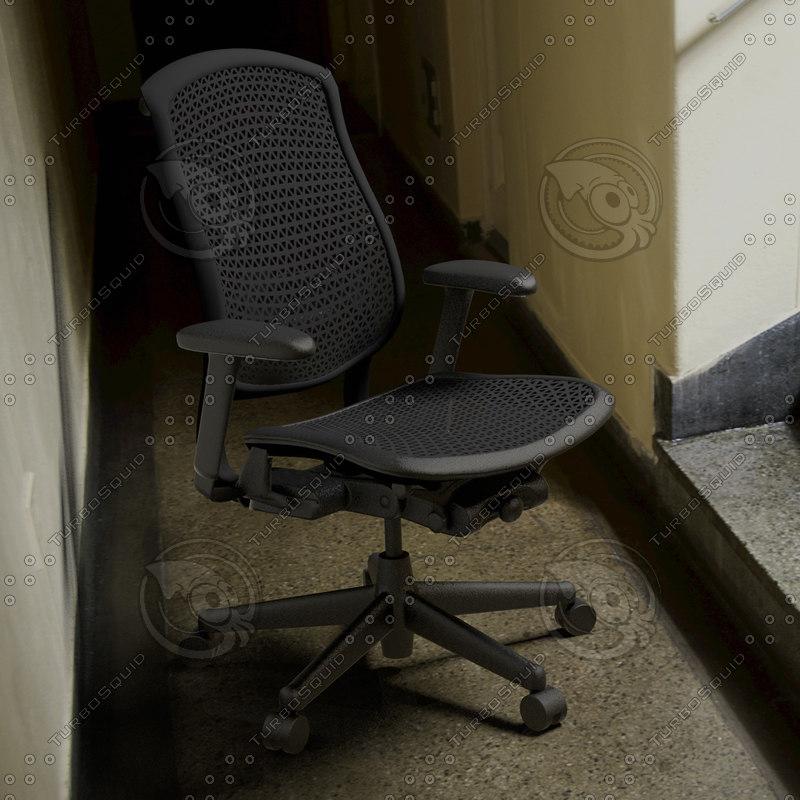 3d model herman miller celle office chair