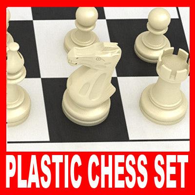 maya plastic chess pieces set