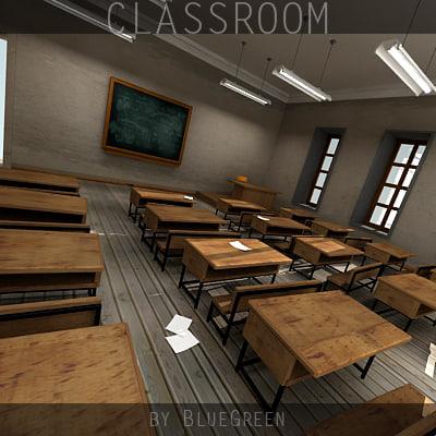 3d model old classroom