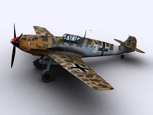 messerschmitt bf109-e7 trop fighters 3d model