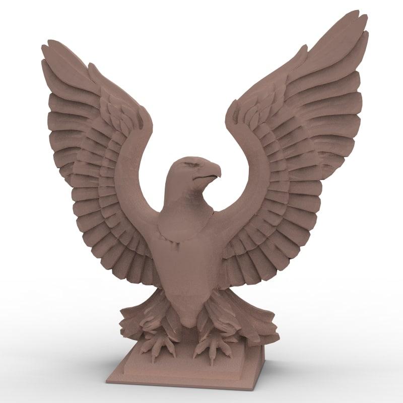 maya bald eagle sculpture
