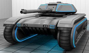 3d model tank futuristic