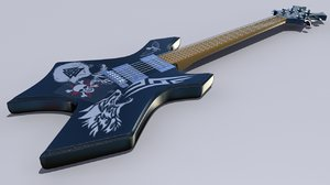 3d guitarra electric guitar