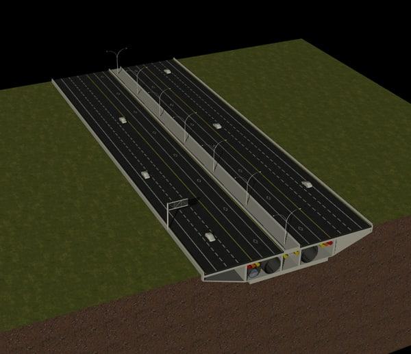 3d model highway cross section