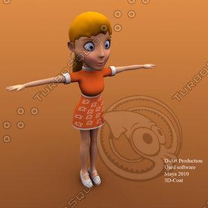 obj little girl