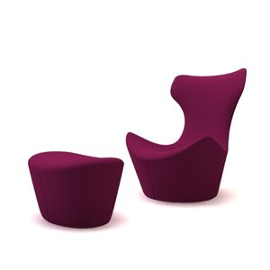 designer chair 3d 3ds