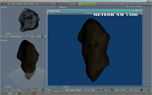free meteor end 3d model