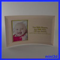 baby picture frame 3d model