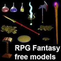 free pack rpg 3d model