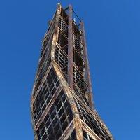 Sci Fi Ruined Building 05