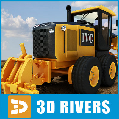3d model motor grader industrial vehicles