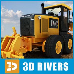 3d model motor grader industrial vehicles