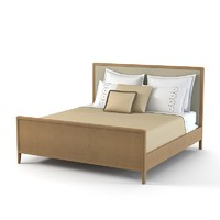 3d screen leather bed model