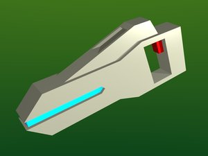 3d model phase pistol
