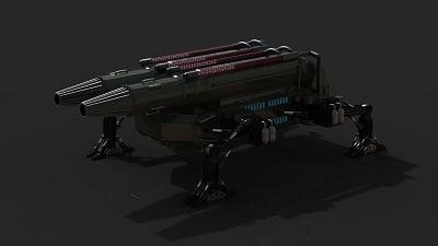 futuristic artillery max