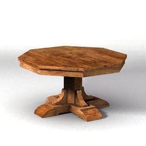 3d octagonal table model