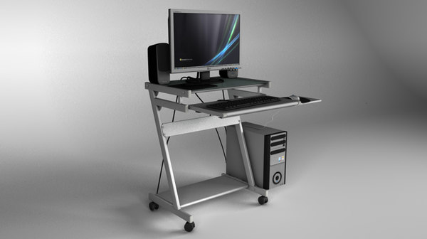 3d computer table