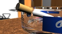 3d model ashtray cigarette