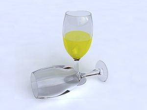 glass goblet 3d