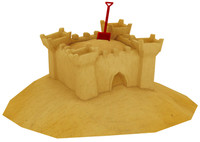 3ds max sand castle