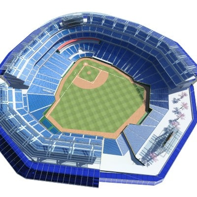3d baseball stadium field