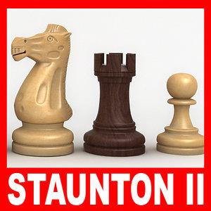 staunton chess pieces set ma