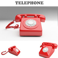 Telephone Retro Red