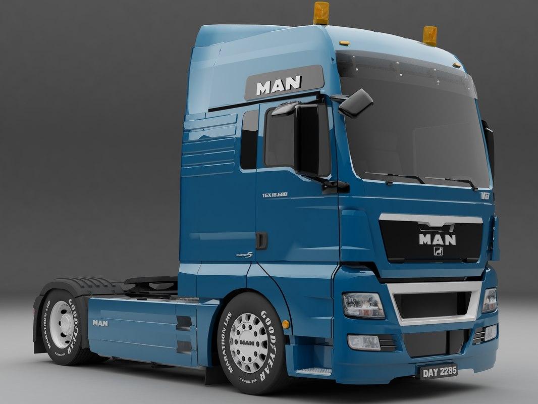 man tgx 4x2 3d model