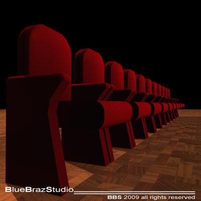 theatre velvet armchairs chair 3ds