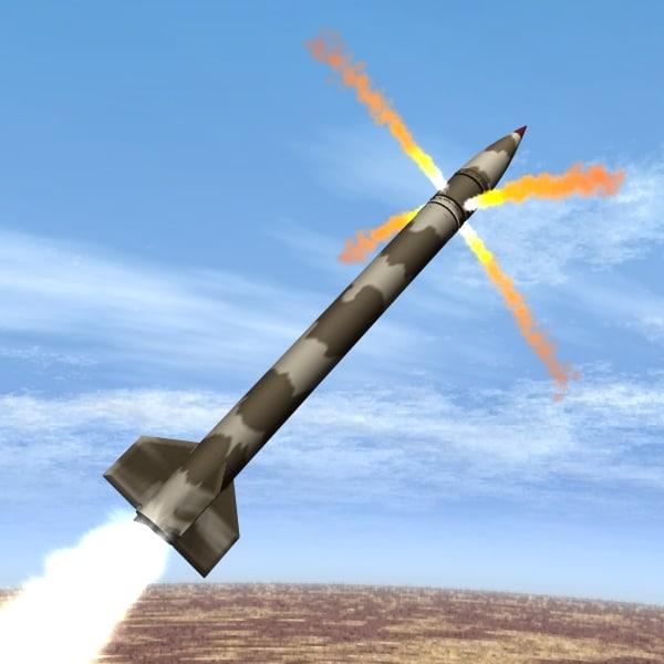 3d model of iranian artillery zelzal 2
