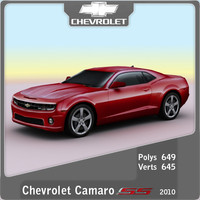 2010 chevrolet camaro ss 3d model