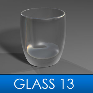 3d stemless wine glass model