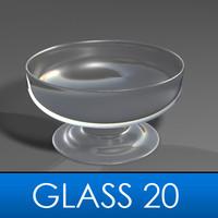 3d drinking glass