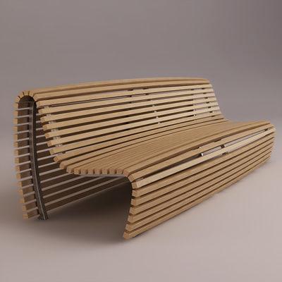 titikaka bench b italia 3d model