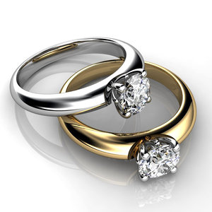 3ds engagement ring white yellow