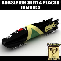 Bobsleigh Sled - 4 Places - Jamaica