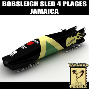 3d bobsleigh sled 4 places