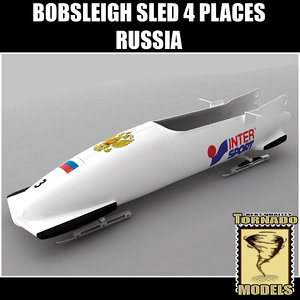 bobsleigh sled 4 places 3d max